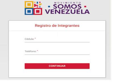 somos venezuela registro